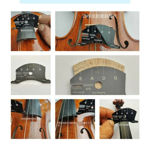 Violin bridges multifunctional mold template 4/4 size, repair reference tools