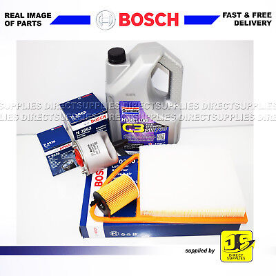 BOSCH SERVICE KIT CITROEN DS3 1.6 HDi DV6DTED OIL AIR FUEL FILTERS ENGINE OIL