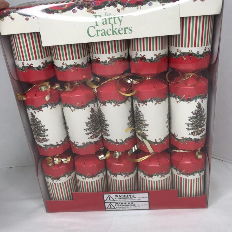 Spode Christmas Tree Party Crackers English Favors Sealed Box of 10 NIB