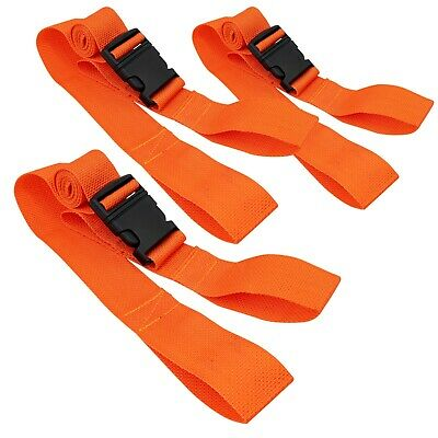 Line2design Spine Board Straps - Disposable Backboard Straps Pack Of 3 - Orange
