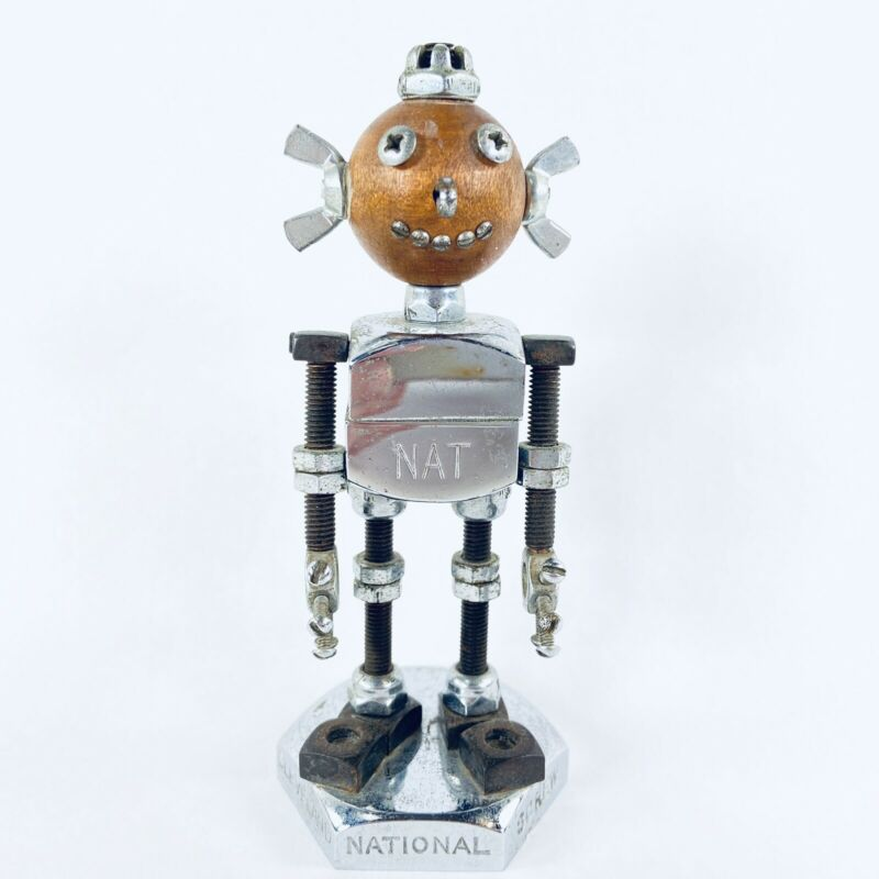 Vtg 1950's National Screw And Mfg Co Cleveland, OH Advertising Robot NAT mascot