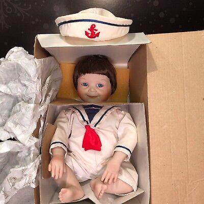 Ashton Drake Sailor Boy Porcelain Doll Justin Yolanda's Moments to Remember MIB