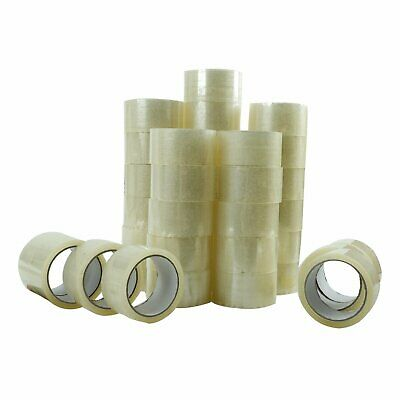 36 Rolls Clear Packing Packaging Carton Sealing Tape 2.0 Mil Thick 2 x 55 Yards