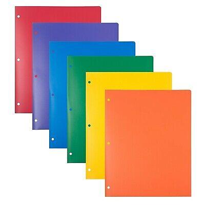 Jam Paper Heavy Duty 3 Hole Punch Paper Folder 6pk