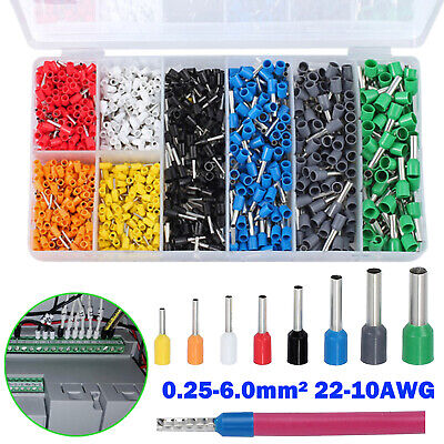1200pcs Electrical Wire Terminals Kit Insulated Assorted Connectors 22-10awg