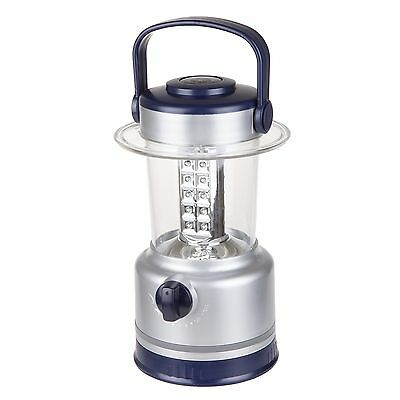 Silver 10 In. Lantern 30 LED Lights Battery Operated Camping Fishing Dimmer - Battery Operated Lantern