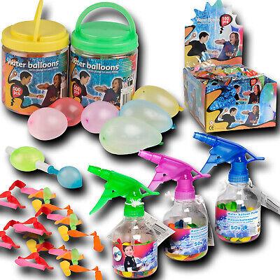 50 100 500 Wasserbomben Wasser Ballon Pumpe Ersatzballons Box Wasserspaß