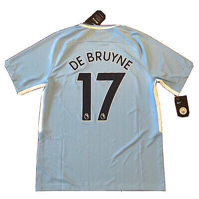 2017/18 Manchester City Home Jersey  #17 De Bruyne Large Nike Soccer NEW image