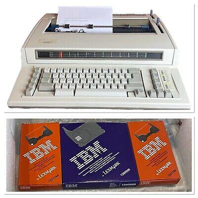 Ibm Wheelwriter Typewriter 1000 By Lexmark Tested W Ribbon Tape Original Box