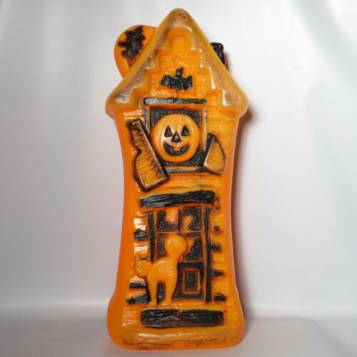 Vtg Haunted House Halloween Blow Mold Light Decoration