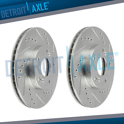 Front Drill Brake Rotors for 1999 - 2002 2003 2004 2005 2006 Acura TL CL MDX (03 Acura Tl Type S 0 60)