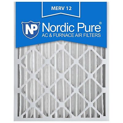 20x25x4 Air Filter Furnace Merv 12 Bulk Pack Nordic Pure 13 8 11 10 Pleated AC ()