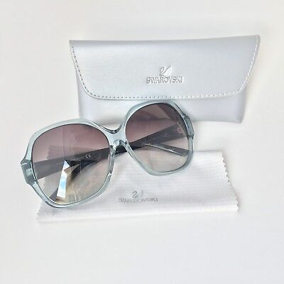 NEW 100% Authentic Swarovski  SW 15 84B Sunglasses Blue ALANIS 61-13-135