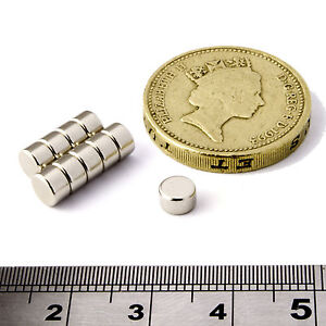 Neodymium disc magnets 5mm dia x 3mm thick grade n50 small for Small round magnets crafts