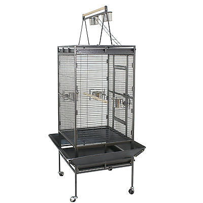 "68"" Top play area with ladder Iron Bird Cage Flight Parrot Cacique Pet Supplies"