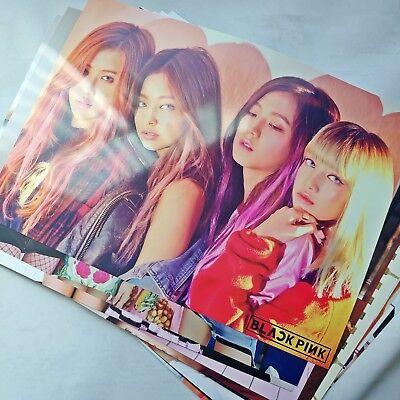 BlackPink 12 Poster Unfolded Lisa Bromide Photo Sticker K-pop Japan Album Event