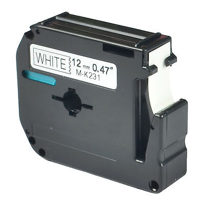 Black On White Label Tape For Brother M-k231 Mk231 M231 P-touch Pt-65 1 Pack