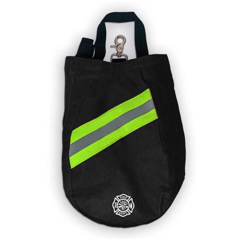 SCBA Mask Bag, Deluxe Version, Black, Firefighter, ISI, EMT, Fire, Respirator