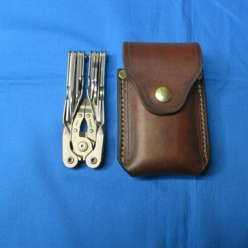 Leather Sheath for SCHRADE TOUGH MULTI TOOL Handmade in the USA Right/Left Hand