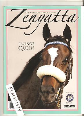 ZENYATTA 56 page COMMEMORATIVE BLOOD HORSE COLLECTORS PROGRAM MINT NO LABEL