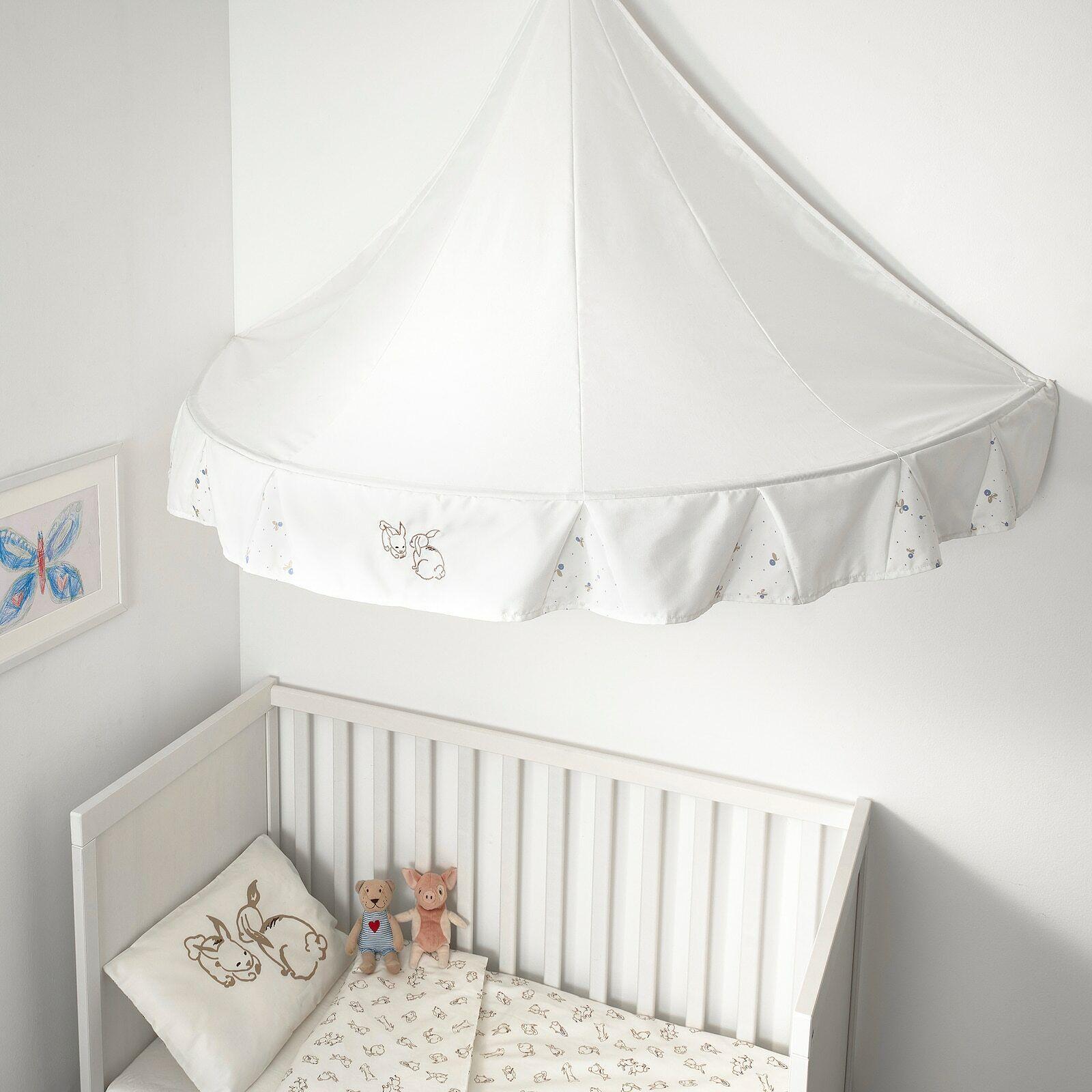 IKEA Betthimmel in weiß,77x94x155 Kanninchen Kinderzimmer Bettartikel Kinder
