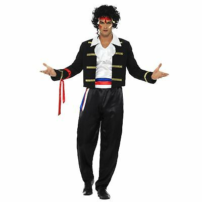 Erwachsene Herren 1980s Neu Romantische Pop Rock Star Ameise Musik Kostüm - Rock Musiker Kostüm