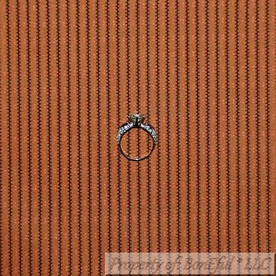 BonEful FABRIC FQ Cotton Quilt Orange Black Rust Antique VTG Stripe Old World - Vintage Halloween Quilting Fabric