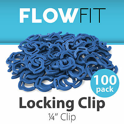 (Blue Locking Clip Quick Connect Fittings 1/4
