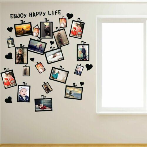 Home Decoration - 20 PCs Picture Photo Frame Set Wall Black Sticker Vinyl Decal Decor Home Art DIY