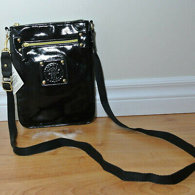 NEW Ladies ANNA SUI Parfums Black Patent Leather Crossbody Bag Swingpack for sale  Canada