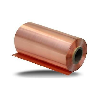 Us Stock 0.04mm X 100mm X 1000mm 99.9 Pure Copper Cu Metal Sheet Foil