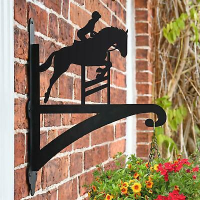 New Showjumping Horse Iron Hanging Basket Bracket - 47cm x 33cm