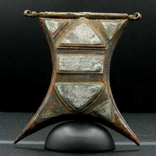 KYRA MINT *Ancient MOORISH Iron/Bronze/Copper/Tin TALISMAN Kitab-74mm long-1900s