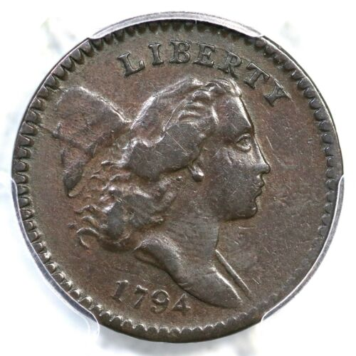 1794 C-9 R-2 PCGS VF 25 High Relief Head Liberty Cap Half Cent Coin 1/2c