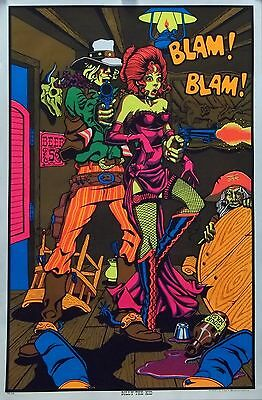 Billy The Kid 23X35 Blacklight Poster 1970S