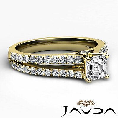 Asscher Cut Prong Set Diamond Womens Engagement Ring GIA G VS2 Platinum 1.15Ct 6