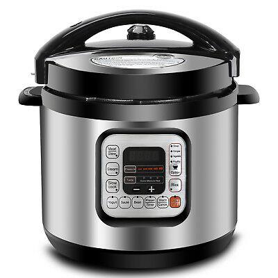 6 Qt Family Electric Pressure Cooker 11 Presets Powerful 1000W Fast Cooking