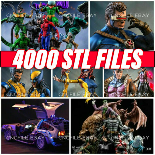 4000 STL files 2800 GB 3D Pack Ultimate All files of market STL 3D PRINT