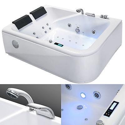 Whirlpool Vasca da bagno angolare massaggio & OZONO & Schermo chromtherapie