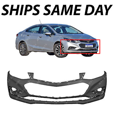 NEW Primered Front Bumper Cover for 2016 2018 Chevy Cruze wo Park Assist 16 18