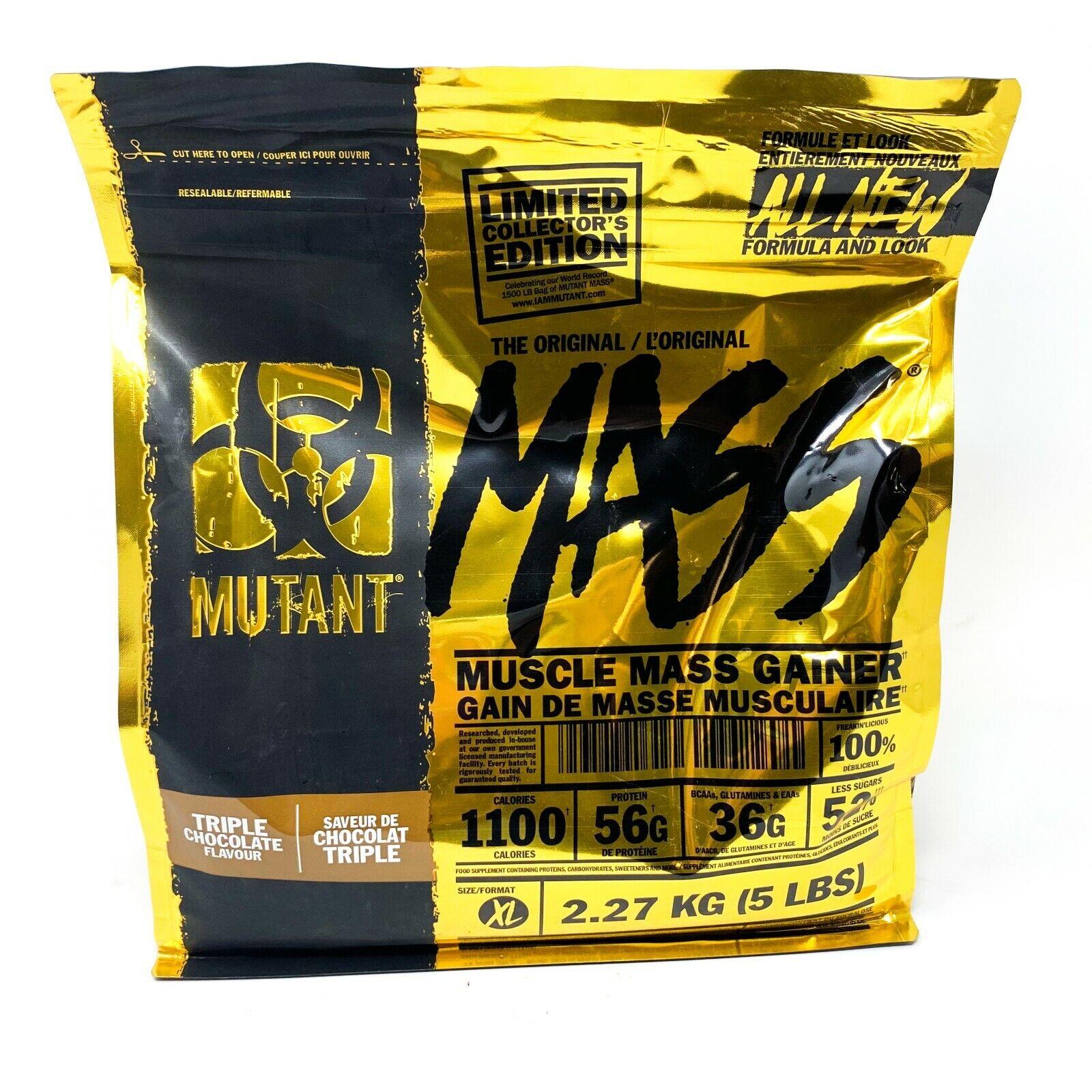 MUTANT MASS 5lb Lean Mass Weight Gainer Protein Powder Gold