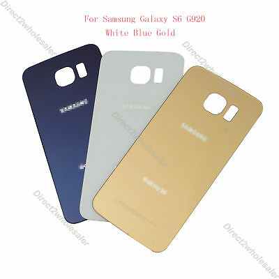 New Rear Battery Glass Cover Back Door Replacement For Samsung Galaxy S6 G920 - Rear Plastic Cover
