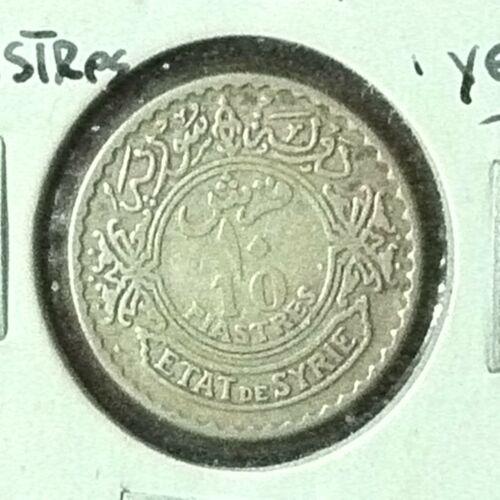 Syria 10 Piastres Silver KM 72 XF 1929 1 Yr. Type