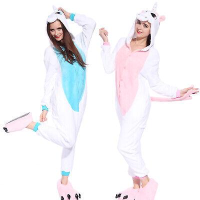 hochwertig Einhorn Overall Pyjama Jumpsuit Schlafanzug Karneval Weihnachten - Weihnachten Anzug