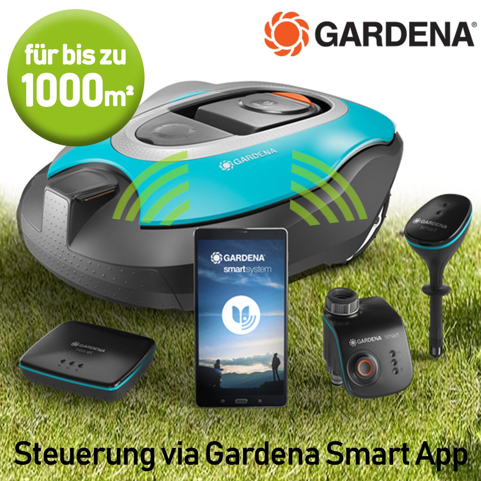 Gardena Mähroboter Rasenroboter Rasenmäher vollautomatisch App Steuerung 1000 m²