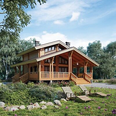 Laminated Log house (bath) Kit DIY Building Cabin Ecofriendly Kit 1 970 sq.ft