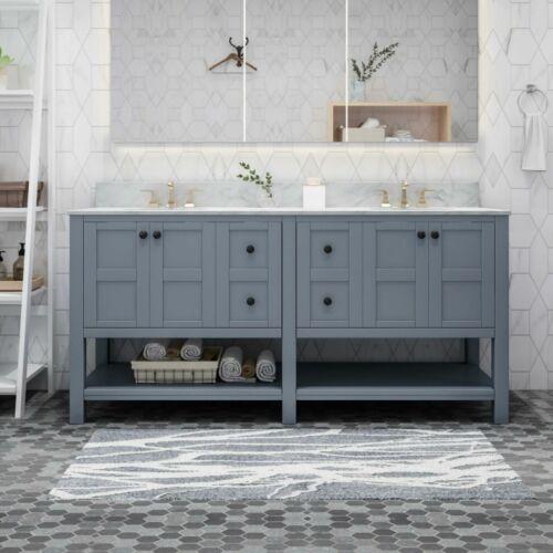 Jamison Contemporary 72″ Wood Bathroom Vanity (Counter Top Not Included) Bath