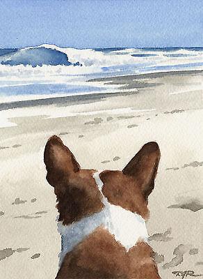 BASENJI Dog Painting ART 11 X 14 LARGE Print Signed DJR