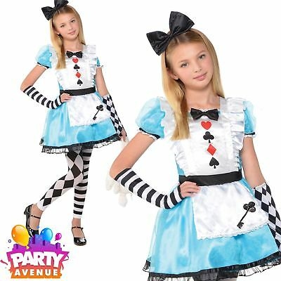 Girls World Book Day Alice In Wonderland Costume Childrens Fancy Dress Outfit - Childs Alice In Wonderland Costume
