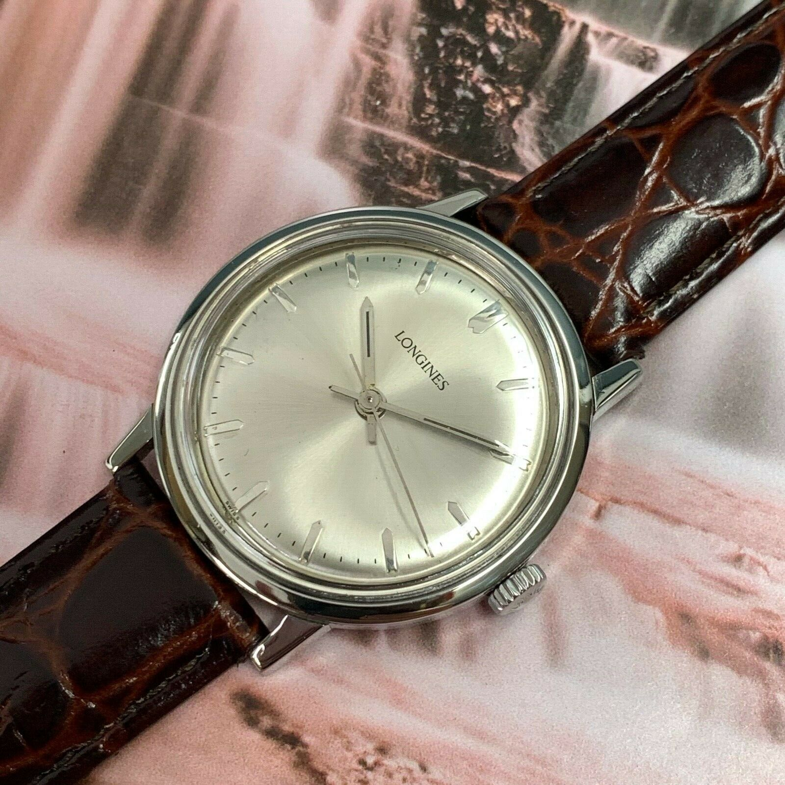 1967 Vintage LONGINES man's wristwatch 17 Jewels Serviced&Warranty AUCTION